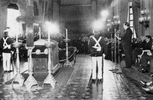 1973 Enero 4 Discuro Rafael Caldera en las exequias de Eleazar López Contreras 001