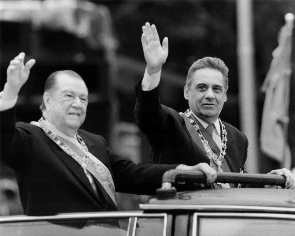 Rafael Caldera y Fernando Henrique Cardoso, 1995.
