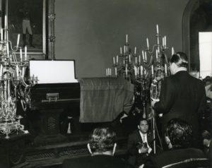 Rafael Caldera 1969 Abril 7 Exequias de Rómulo Gallegos en el Salón Elíptico002