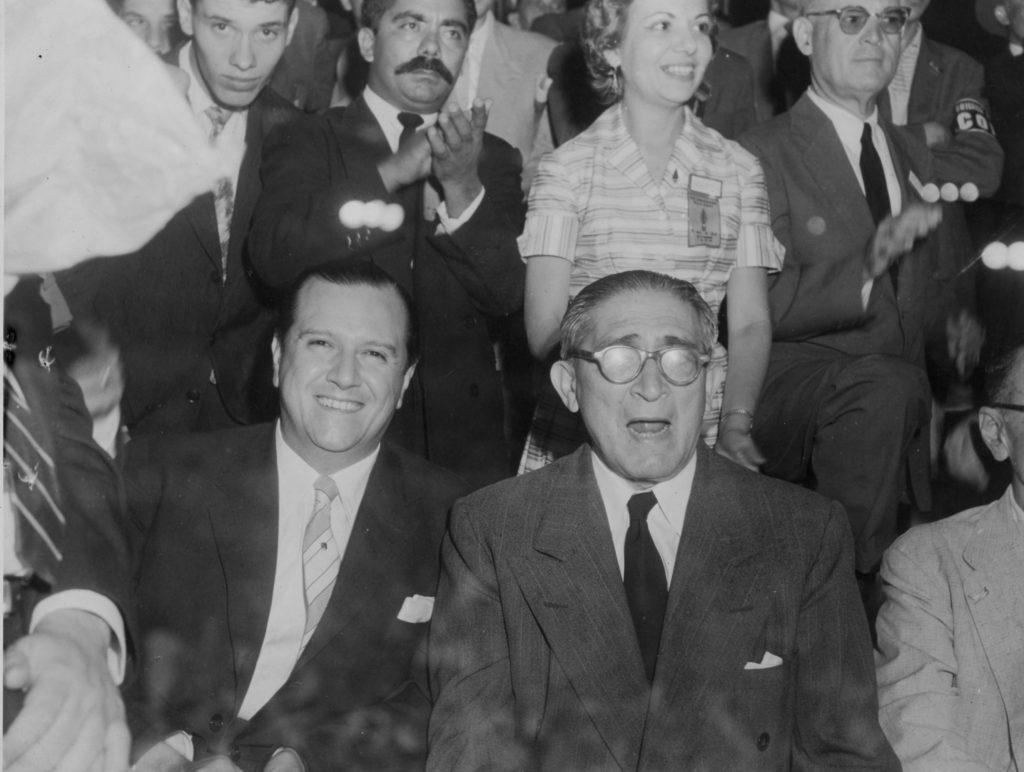 Rafael Caldera en el Nuevo Circo de Caracas, 1958.
