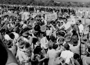 1958. Rafael Caldera en Barinas durante campaña