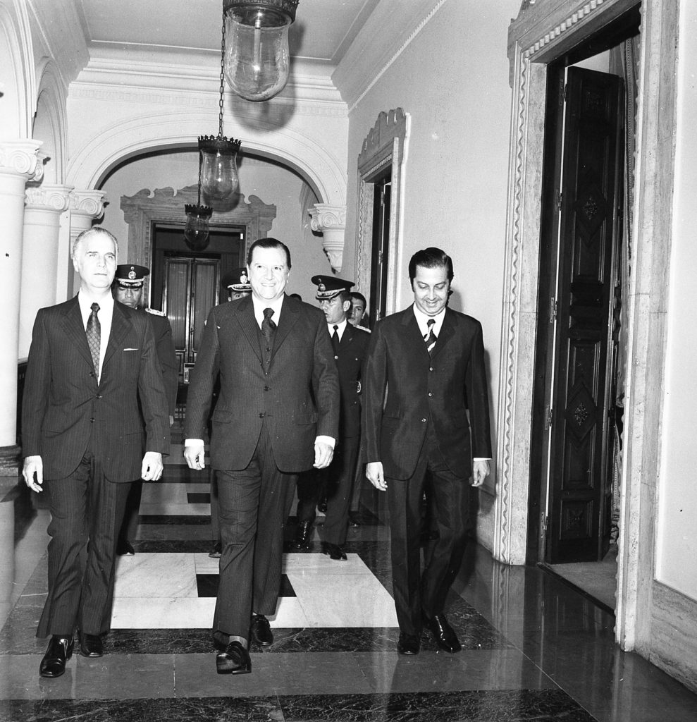 Arístides Calvani, Rafael Caldera y José Alberto Zambrano