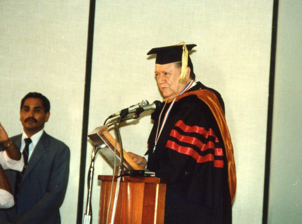 Rafael Caldera en República Dominicana, 1986.