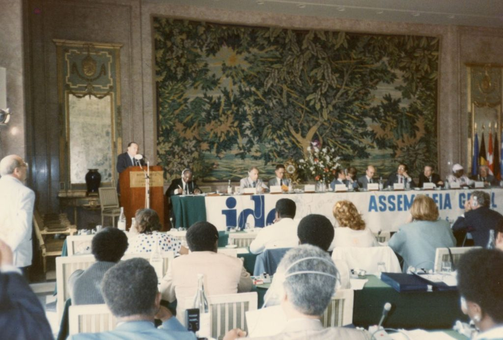 Rafael Caldera Demócrata-Cristiano, Lisboa, 1986.