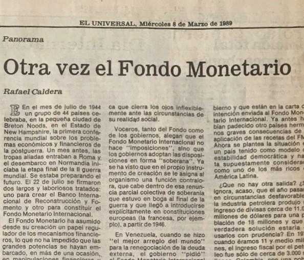 1989. Marzo, 8. ALA / El Universal: Otra vez el Fondo Monetario