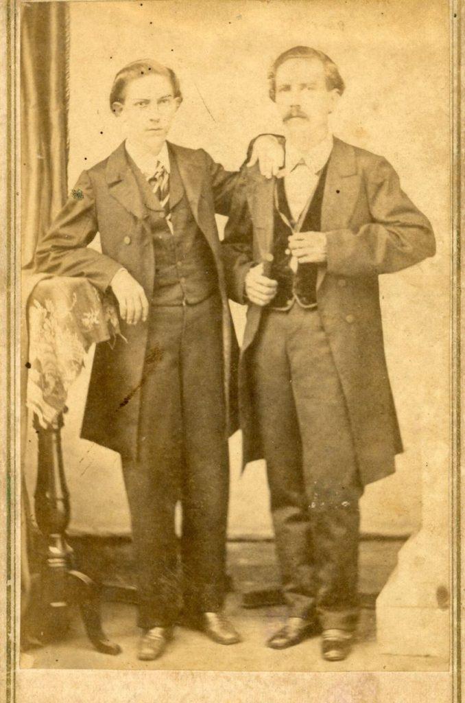 1862. Juan José Caldera Zumeta (padre de Rafael Caldera Izaguirre) y su hermano Nicanor.