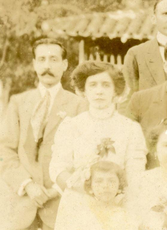 1913. Rafael Caldera y Rosa Sofía Rodríguez de Caldera.