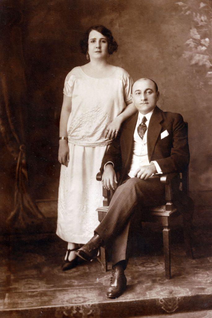 1925. Retrato de Tomás Liscano y su esposa María Eva.