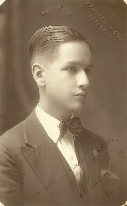 1930. Agosto, 3. El joven Rafael Caldera.