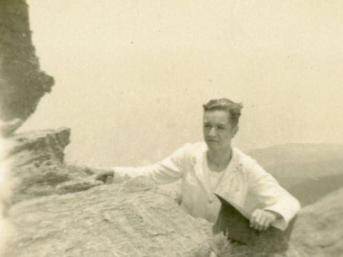 1932. Subiendo a Galipán, cerro El Ávila, Caracas.