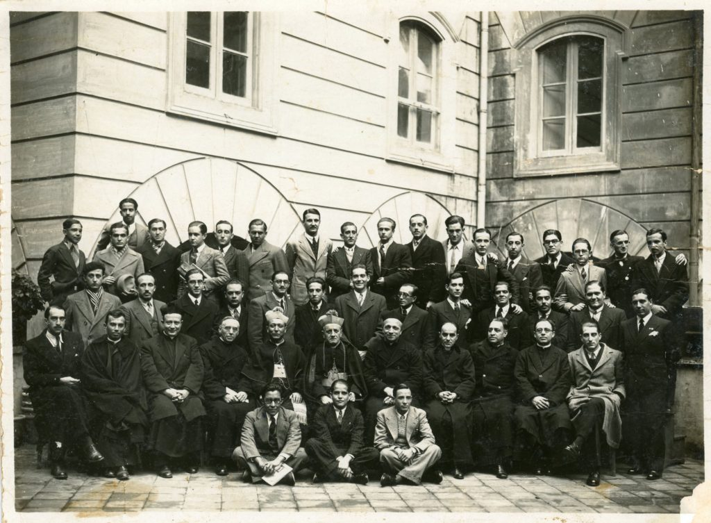 1933. Diciembre, 14. Congreso Universitario de estudiantes católicos, Roma.