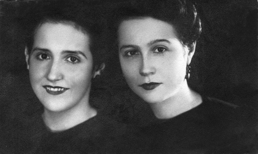 1934. Lola y Rosa Elena Caldera.