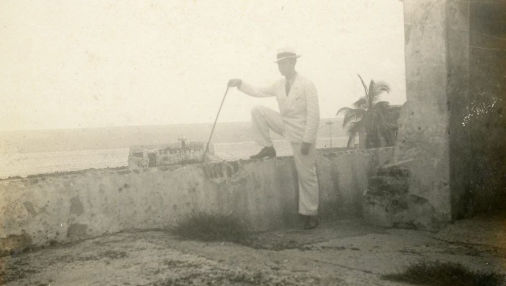 1935. Octubre, 10. Visita a Cartagena, Castillo San Felipe.