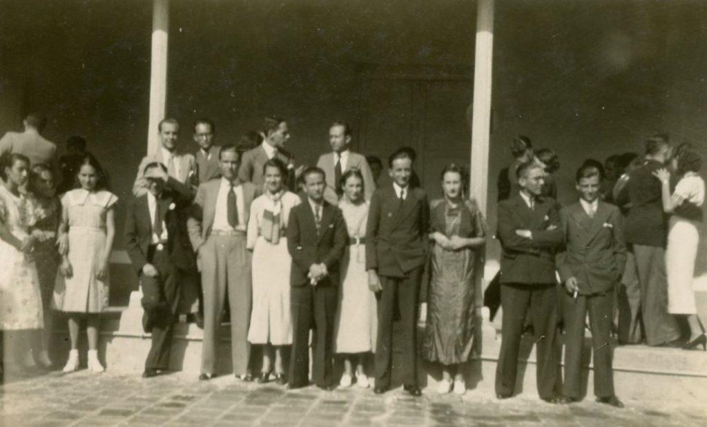 1936. La directiva de la UNE en la Universidad de Los Andes, Mérida.