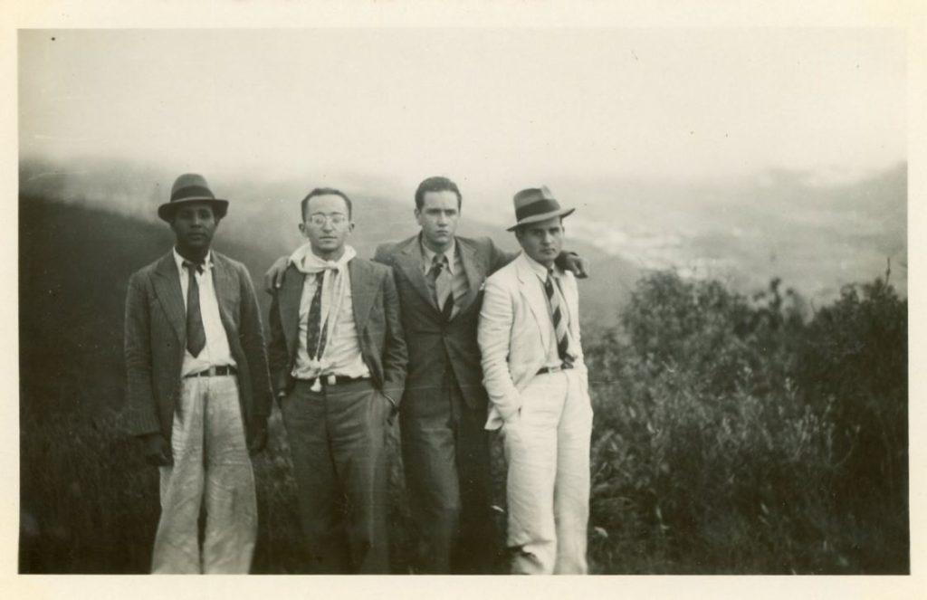 1936. Directivos de la UNE en La Grita. estado Táchira.