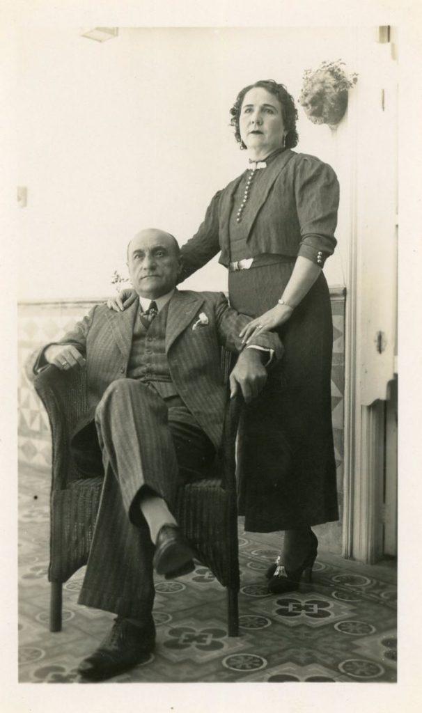 1936. María Eva Rodríguez Rivero de Liscano y Tomás Liscano Giménez.