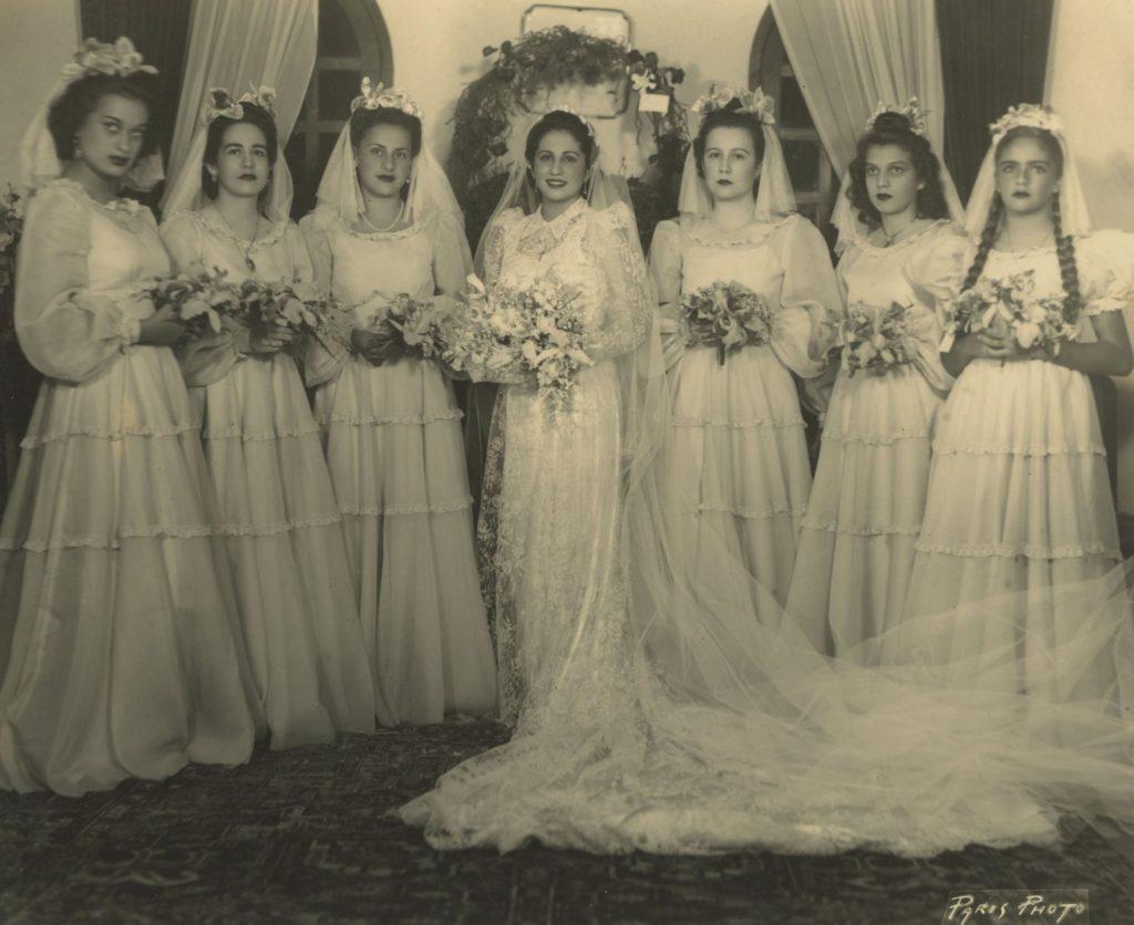 1941. Agosto, 6. Josefina Benedetti, Olga Escobar, Oly Clemente, Rosa Elena Caldera, Carmen Luisa Rodríguez y Andreína Pietri.