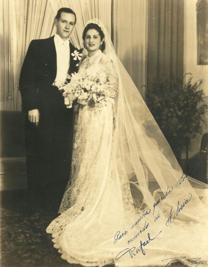 1941. Agosto, 6. Matrimonio Caldera-Pietri, enla Iglesia Santa Teresa.