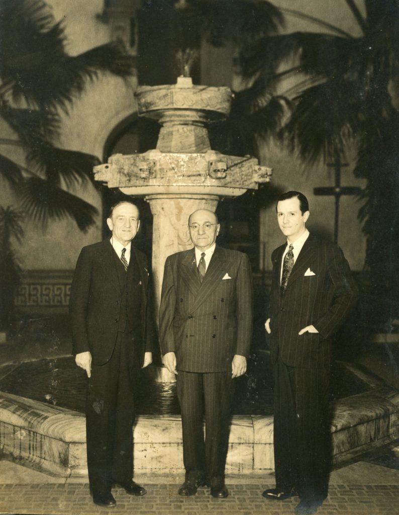 1944. Diciembre. Rafael Caldera con Leo S. Rowe y Tomás Liscano, en Washington, DC.