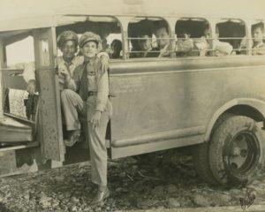 1947. Noviembre - Diciembre. Campaña electoral presidencial. Carretera Barinas - Obispo.
