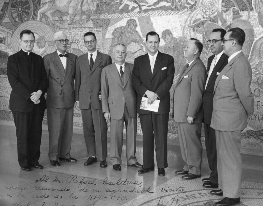 1958. Enero, 29. Visita a la American Federation of Labor and Congress of Industrial Organizations AFL-CIO en Washington DC.