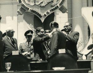 Rafael Caldera homenajeado en el Concejo Municipal de Caracas.