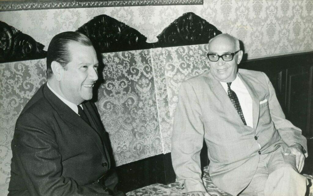 1969. Enero, 6. Visita al presidente Raúl Leoni en La Casona, en condición de presidente electo.