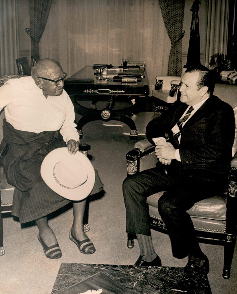 1969. Junio, 13. Audiencia en Miraflores del jefe guajiro Torito Fernández.