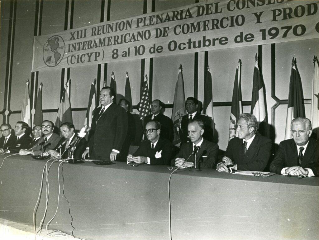 1970. Octubre, 8. Instalación de la XIII reunión plenaria del Consejo Interamericano de Comercio y Producción (CICYP).