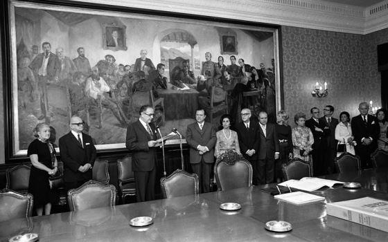 1971. Julio, 1. Inauguración óleo Tito Salas Los Causahabientes.
