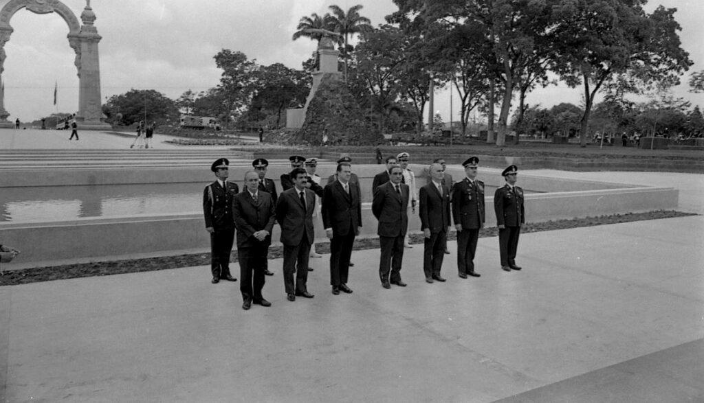 1971. Junio, 24. Durante la celebración del Sesquicentenario de la Batalla de Carabobo.