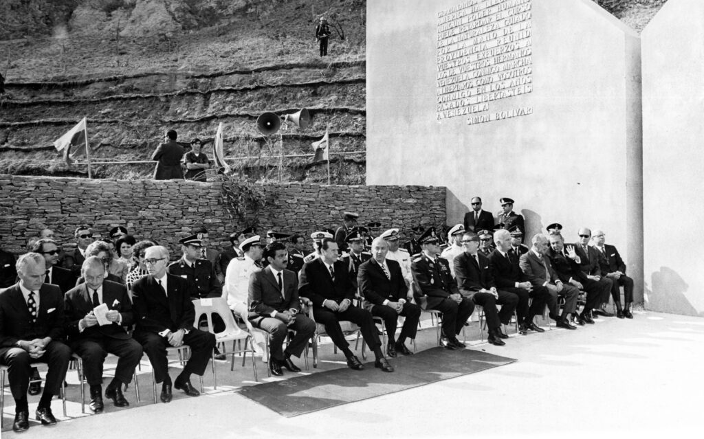 1971. Junio, 28. Inauguración del Monumento a Boyacá en la avenida del mismo nombre o Cota Mil en Caracas.