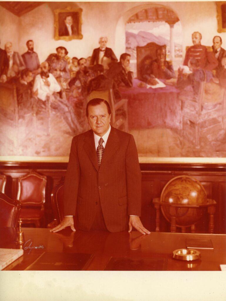 1972. En la Residencia Presidencial La Casona, Salón del Consejo de Ministros.