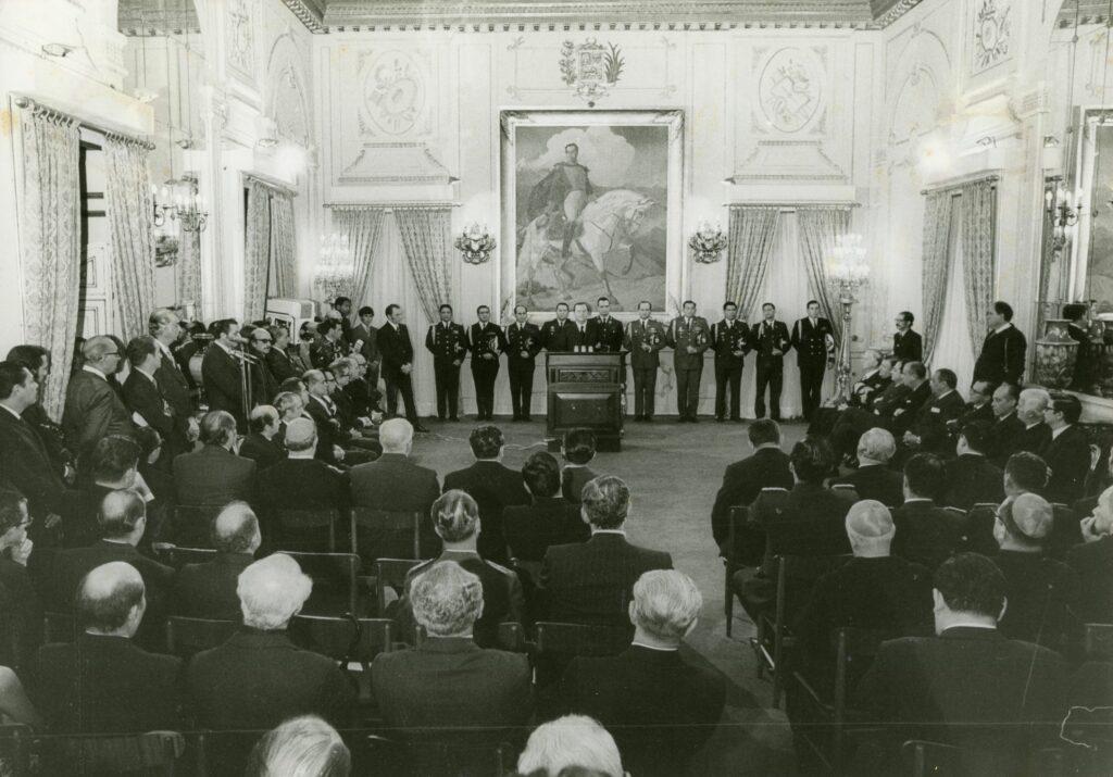 1972. Enero, 1. Alocución de año nuevo en el Palacio de Miraflores.