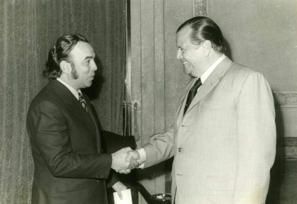 1972. Enero, 25. Visita de Aldemaro Romero en el Palacio de Miraflores.