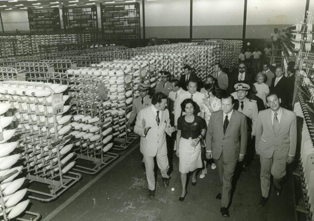 1972. Enero, 29. Inauguración de Textilera en Morón, estado Carabobo.