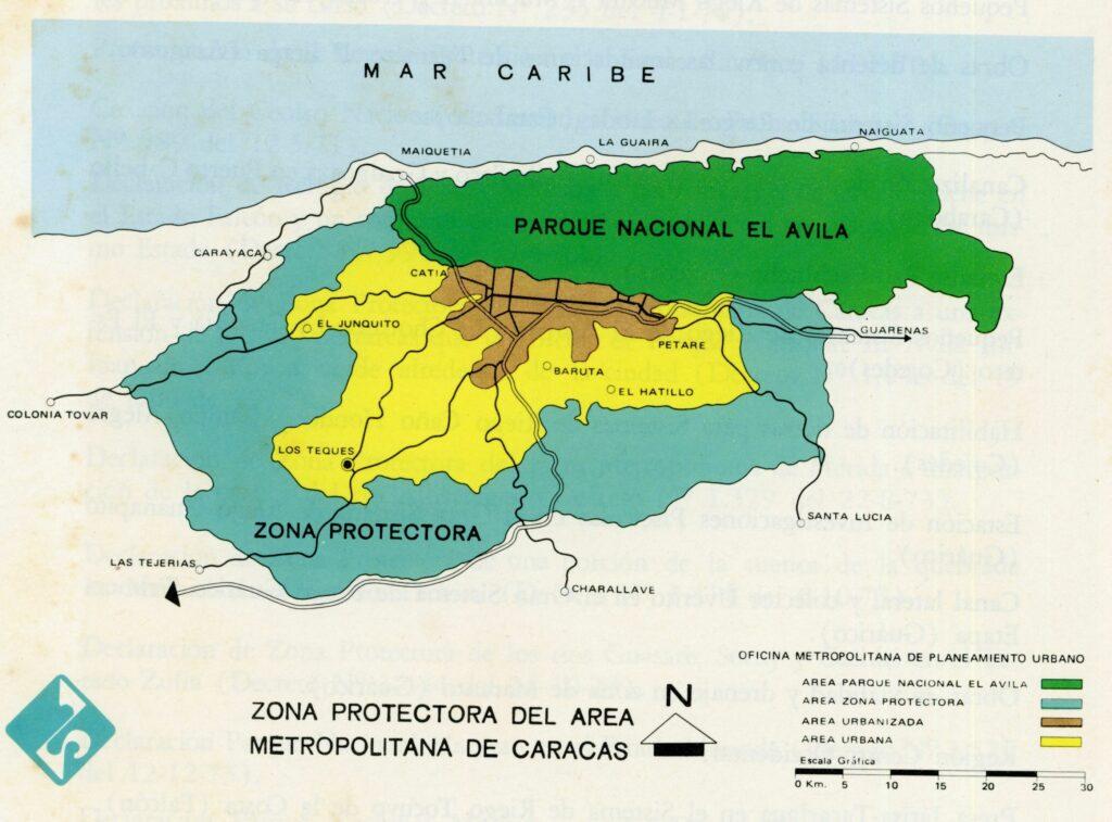 1972. Julio, 19. Decreto 1.046 que declara la Zona Protectora del Área Metropolitana de Caracas.