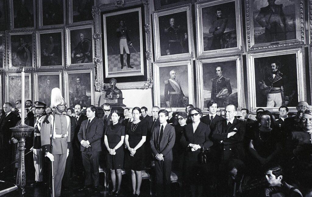 1972. Julio, 7. Honores fúnebres al expresidente Raúl Leoni.