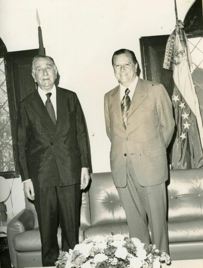 1973. Febrero, 20. Encuentro con el General Emilio Garrastazu Medici, presidente de Brasil.
