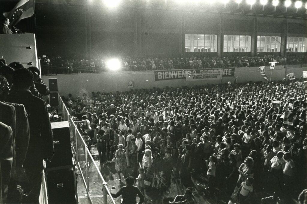 1973. Febrero, 13. Recibimiento multitudinario en Maiquetía.