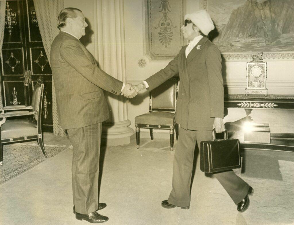 1973. Febrero, 22. Visita de Josephine Baker en el Palacio de Miraflores.
