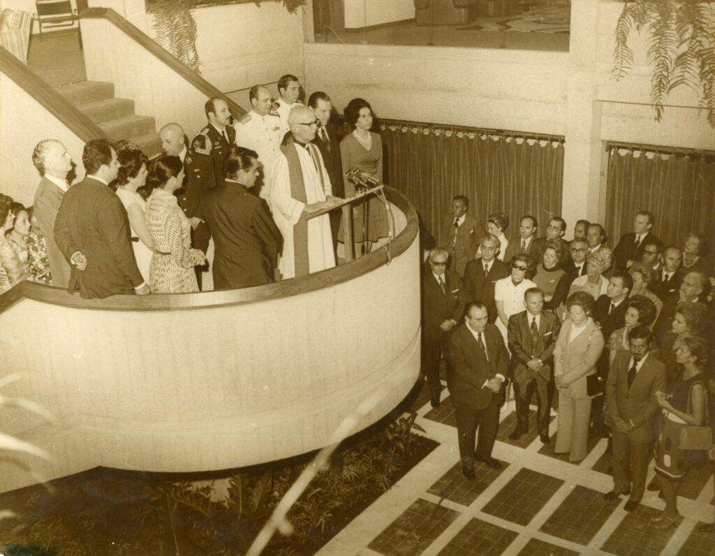 1973. Mayo, 5. Inauguración de la residencia presidencial La Viñeta para Jefes de Estado visitantes.