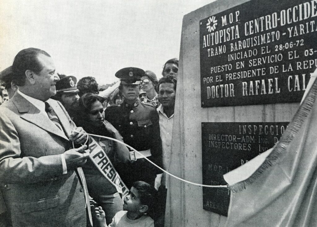 1973. Noviembre, 3. Inauguración de la autopista centro-occidental, tramo Barquisimeto-Yaritagua.