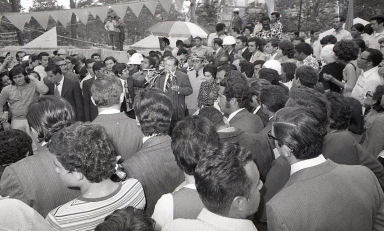 1974. Marzo, 6. Homenaje en Los Caobos.