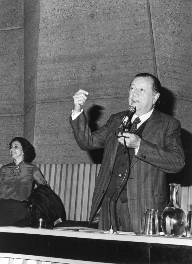 Rafael Caldera en París, 1980