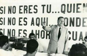1986. Noviembre. En los Hogares Crea, en Barquisimeto.