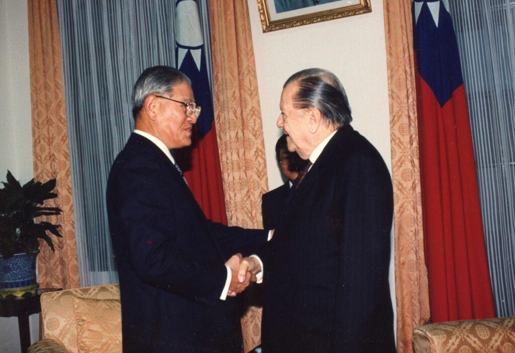 1992. Enero, 14. Reunión con el presidente Lee Teng-Hui de la República China, Taiwan.