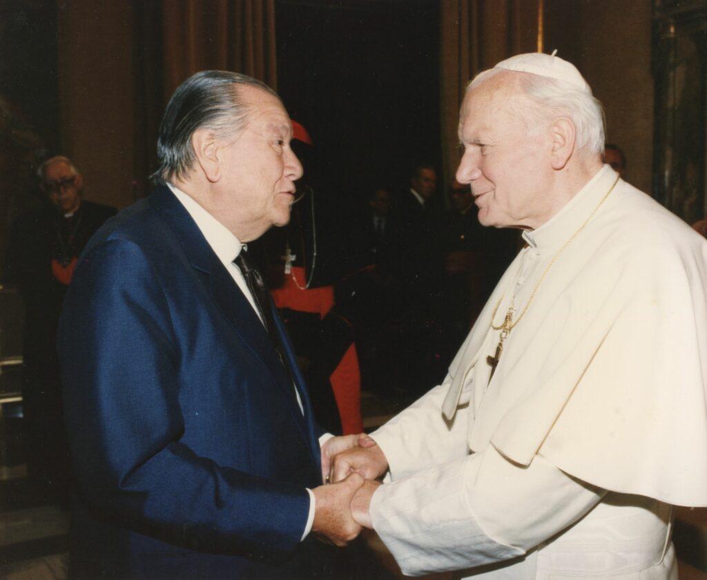 Juan Pablo II y Rafael Caldera 1992