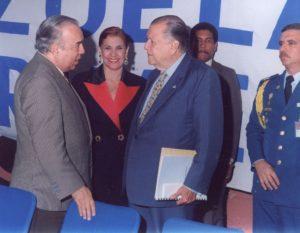 1994. Encuentro con Mirla Castellanos y Aldemaro Romero.