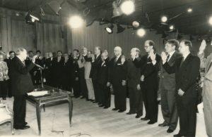 1994. Febrero, 2. Juramentación del primer gabinete en el Palacio de Miraflores.